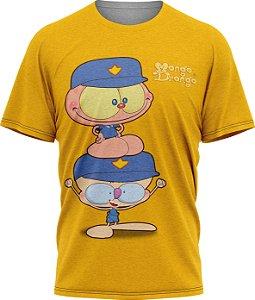 Mongo e Drongo Vigia - Camiseta Adulto - Amarelo - Tecido Dryfit
