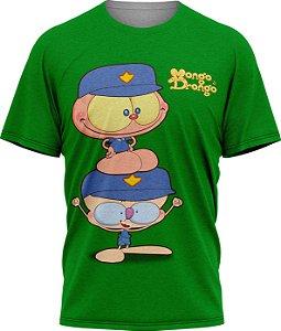 Mongo e Drongo Vigia - Camiseta Adulto - Verde - Tecido Dryfit