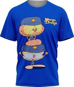 Mongo e Drongo Vigia - Camiseta Infantil - Azul - Tecido Dryfit