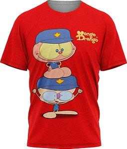 Mongo e Drongo Vigia - Camiseta Infantil - Vermelho - Tecido Dryfit