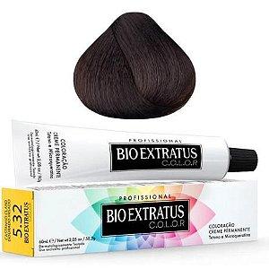 Coloração Bio Extratus Color 60ml 5.32 Castanho Claro Dourado Irisado