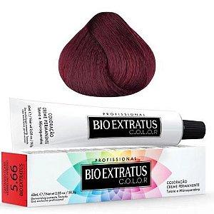 Coloração Bio Extratus Color 60ml 5.66 Castanho Claro Vermelho Intenso