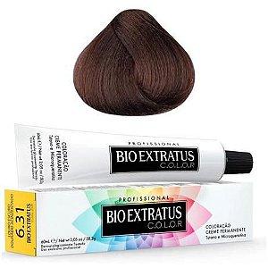 Coloração Bio Extratus Color 60ml 6.31 Louro Escuro Dourado Acinzentado