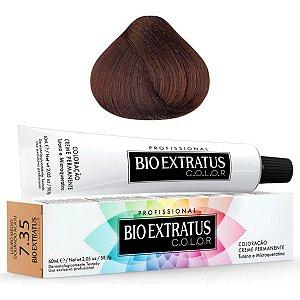 Coloração Bio Extratus Color 60ml 7.35 - Louro Médio Dourado Acaju