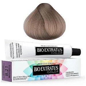 Coloração Bio Extratus Color 60ml 8.21 Louro Claro Irisado Acinzentado