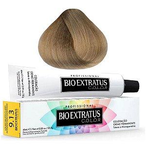 Coloração Bio Extratus Color 60ml 9.13 Louro Muito Claro Acinzentado Dourado