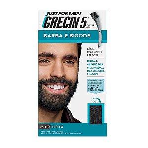 Grecin 5 Barba e Bigode Preto H 110