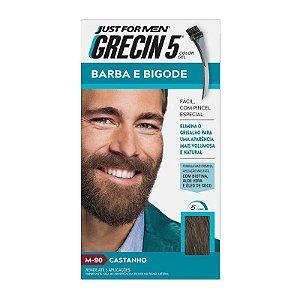 Grecin 5 Barba e Bigode Castanho H 90