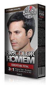 Tonalizante Biocolor Homem Castanho Escuro