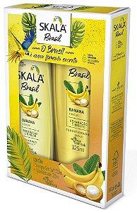 Kit Shampoo e Condicionador Skala 325ml Banana