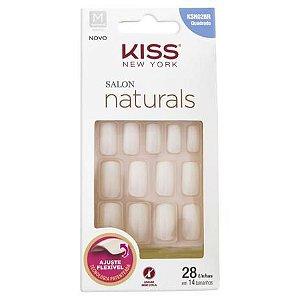 Unhas Postiças Salon Naturals KSN02BR Quadrado Kiss NY