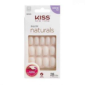 Unhas Postiças Salon Naturals KSN01BR Oval Kiss NY