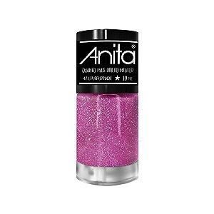 Esmalte Anita Quanto + Brilho Melhor Purpurinada 10ml