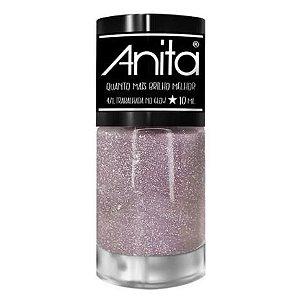 Esmalte Anita Quanto + Brilho Melhor Trabalhada no Glow 10ml