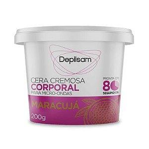 Cera Cremosa Para Microondas 200g Maracujá Depilsam