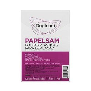 Folhas Plásticas Para Depilação Papelsam Com 50 Depilsam