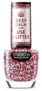Esmalte Studio 35 Keep Calm And Use Glitter Ninguém Tem Esse 9ml