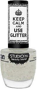 Esmalte Studio 35 Keep Calm And Use Glitter Cristais de Gelo 9ml