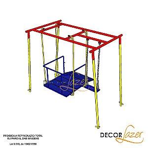 Playground Adaptado Balanço Duplo para Cadeirante