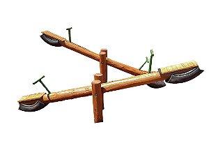 Playground de madeira gangorra de eucalipto