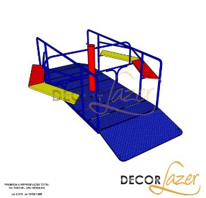 Playground Adaptado Gira Gira para Cadeirante