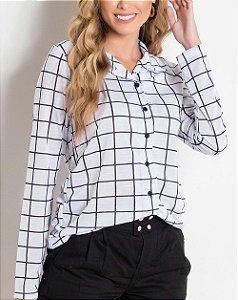 Camisa com Botões Xadrez Grid