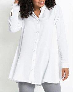 Camisa Fluída com Pérolas Branca