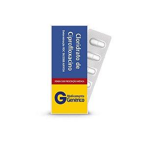 Cloridrato de Ciprofloxacino 500mg da Pharlab - Caixa com 14 Comprimidos