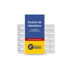 Besilato de Anlodipino 10mg da Neo Química - Caixa com 30 Comprimidos