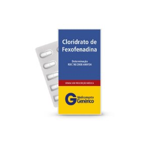 Cloridrato de Fexofenadina 180mg da Ranbaxy - Caixa com 10 Comprimidos