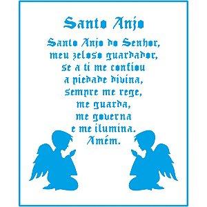 STENCIL SANTO ANJO E ANJINHOS - STM-659