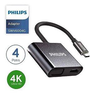 ADAPTADOR 4 EM 1 HDMI+USB+PD+VGA - PHILIPS