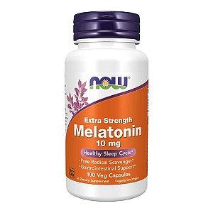 Melatonina 10mg Importada (100 Cápsulas) - Now Foods