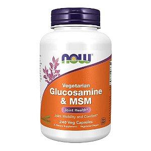 Glucosamina Vegana com MSM Importada (240 caps) - Now Foods