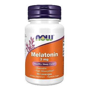 Melatonina 3mg Importada (90 Lozenges) - Now Foods