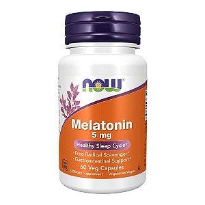 Melatonina 5mg Vegana (60 Cápsulas) - Now Foods