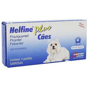 Vermífugo Helfine Plus para Cães e Gatos - 2 comprimidos