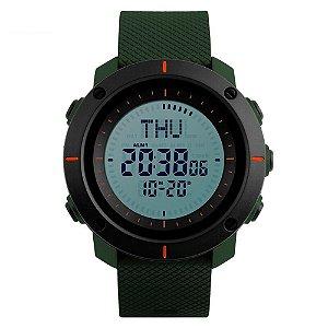 Relógio Bússola Masculino Skmei Digital 1216 - Verde e Preto
