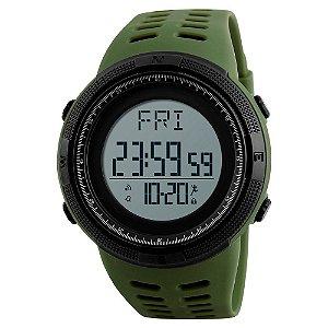 Relógio Pedômetro Masculino Skmei Digital 1295 - Verde e Preto