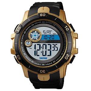 Relógio Masculino Skmei Digital 1523 - Preto e Dourado