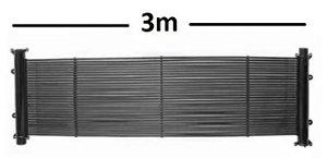 Kit completo de 10 Coletores Solar 3,0 X 0,33 (0,99 m2)+ Fechamento + CDT SWP + Luva Sensor Pooltec