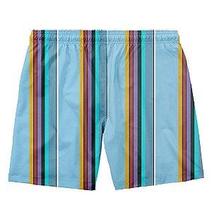 Short masculino Mamoo retro azul