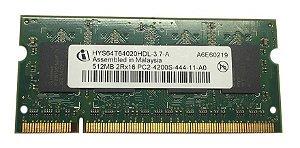 Memória Notebook Infineon 512mb Ddr2 Hys64t64020hdl-3(13861)