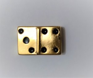Dominó Passante de Metal Dourado