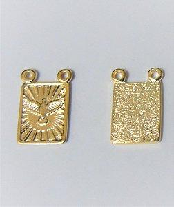 Escapulário Metal Dourado Pomba da Paz