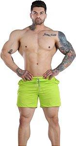 Shorts Fitness 2 Em 1 - Dry Fit E Térmico De Compressão - Esportivo Para Corrida E Treino  - Verde Abacate