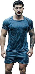 Camisa Jacquard Dry Fit - Cinza Chumbo