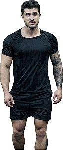 Camisa Jacquard Dry Fit - Preta