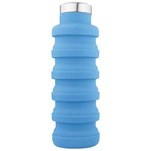 Garrafa Retrátil Silicone Dagg Eco Care - Azul
