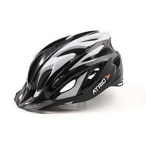 Capacete para Ciclismo Atrio MTB Inmold 2.0 Viseira Removível Cinza Tamanho G